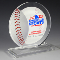 7621S (Screen Print), 7621P (4 Color Process) - Baseball Achievement Award